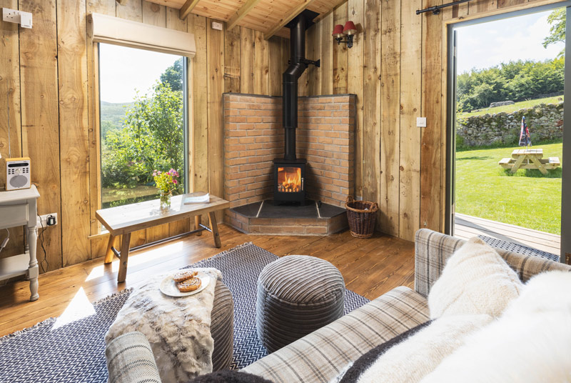 Glamping with wood-burners
