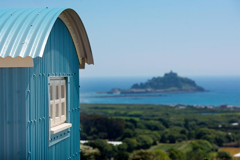 Glamping with sea views