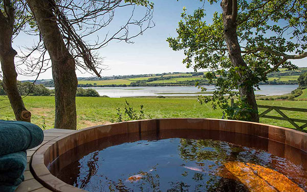 Wow woodpecker shepherds hut hot tub