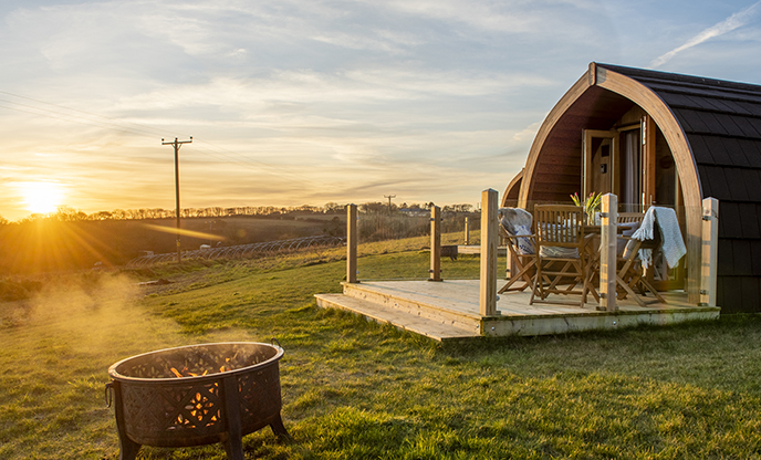 Glamping pods in Cornwall