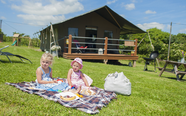 Glamping family fun: switch off and reconnect
