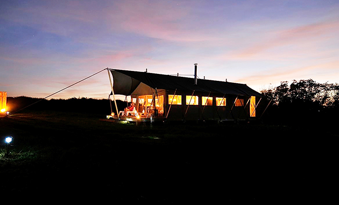 Safari tent sleeping six