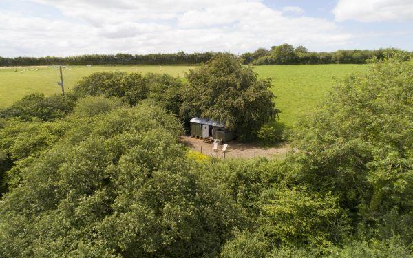 Rural shepherd's hut
