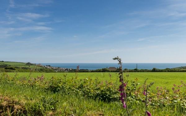 Bos Verbas sea view towards Praa Sands, Cornwall
