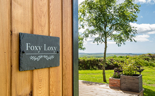 Foxy Loxy glamping with a hot tub