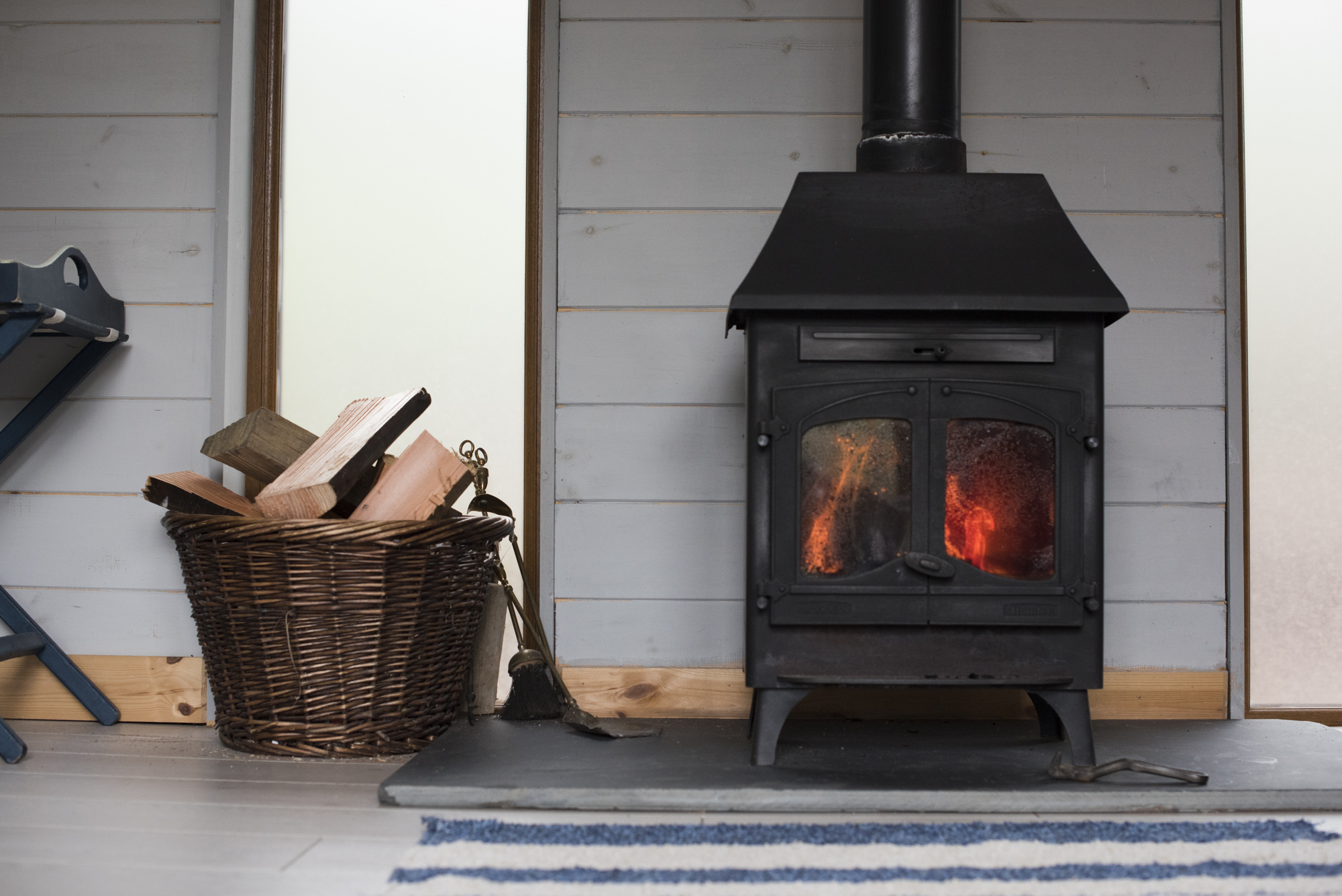Glamping with a wood-burner